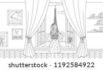vector illustration  a girl...   Shutterstock .eps vector #1192584922