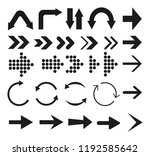 black arrows. set arrows icon.... | Shutterstock .eps vector #1192585642