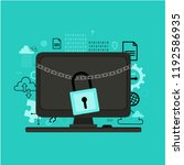 internet security concept.... | Shutterstock .eps vector #1192586935