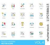fintech modern icon set....   Shutterstock .eps vector #1192588615