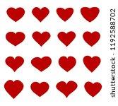heart icons set | Shutterstock .eps vector #1192588702