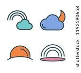 cloudy icon set. vector set... | Shutterstock .eps vector #1192590658