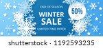 winter sale banner. origami... | Shutterstock .eps vector #1192593235