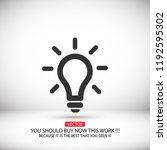 vector icon bulb 10 eps | Shutterstock .eps vector #1192595302