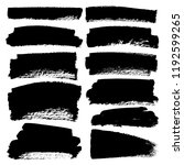 set of brush stroke  black ink... | Shutterstock .eps vector #1192599265