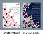 abstract minimal geometric... | Shutterstock .eps vector #1192611838