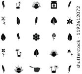 nature icon set | Shutterstock .eps vector #1192612072
