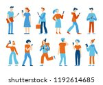 vector illustration in flat... | Shutterstock .eps vector #1192614685