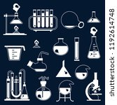 set of laboratory equipment... | Shutterstock . vector #1192614748