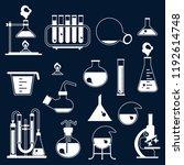set of laboratory equipment... | Shutterstock . vector #1192614748