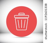 trash vector icon | Shutterstock .eps vector #1192631338