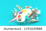 color palettes and colored... | Shutterstock . vector #1192639888