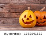 Two Funny Halloween Pumpkins On ...