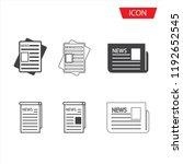 news publish media icons....   Shutterstock .eps vector #1192652545