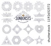geometric hand drawn sunburst ... | Shutterstock . vector #1192652572