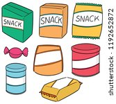 vector set of snack | Shutterstock .eps vector #1192652872
