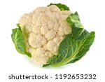 Head Of Cauliflower Isolated O...
