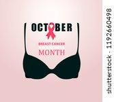 october  breast cancer... | Shutterstock .eps vector #1192660498