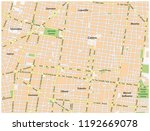 historic center of mexico city... | Shutterstock .eps vector #1192669078