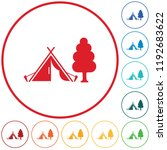 stylized icon of tourist tent.... | Shutterstock .eps vector #1192683622