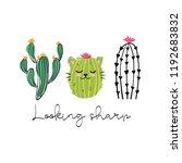cactus print design. looking... | Shutterstock .eps vector #1192683832