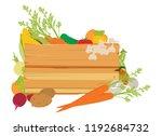 a wooden vegetables sign... | Shutterstock .eps vector #1192684732