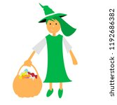 vector witch halloween witch... | Shutterstock .eps vector #1192686382