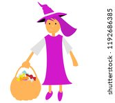 vector witch halloween witch... | Shutterstock .eps vector #1192686385