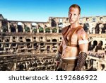 strong gladiator isolated in... | Shutterstock . vector #1192686922