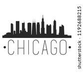 chicago illinois skyline... | Shutterstock .eps vector #1192688215