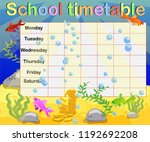 school timetable with marine... | Shutterstock .eps vector #1192692208