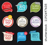 modern sale banners and labels... | Shutterstock .eps vector #1192697635