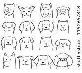 vector set of dog   Shutterstock .eps vector #1192697818