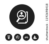 set of 5 editable mixed icons....