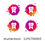 tooth smile face icons. happy ... | Shutterstock .eps vector #1192700005