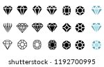 abstract black diamond... | Shutterstock .eps vector #1192700995