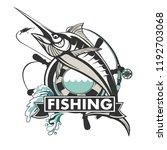 marlin fish logo.sword fish...   Shutterstock .eps vector #1192703068