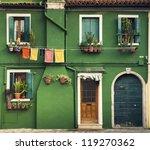 colorful houses taken on burano ... | Shutterstock . vector #119270362