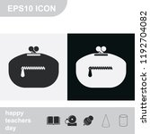purse flat black and white... | Shutterstock .eps vector #1192704082