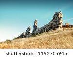 Giant Rocks Stone Pillars In A...