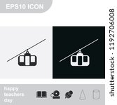 cable car line flat black and... | Shutterstock .eps vector #1192706008