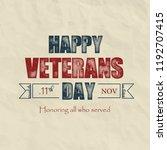 creative poster design for... | Shutterstock .eps vector #1192707415