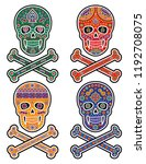 holy death  day of the dead ... | Shutterstock .eps vector #1192708075
