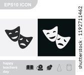 facial mask symbol flat black... | Shutterstock .eps vector #1192711462