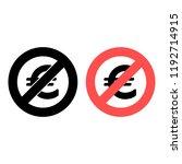 euro sign ban  prohibition icon....