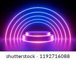 3d render  neon light  glowing... | Shutterstock . vector #1192716088