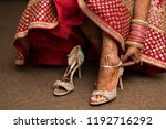 pakistani indian bridal wearing ... | Shutterstock . vector #1192716292