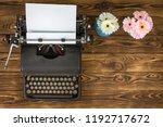 overhead view of vintage metal... | Shutterstock . vector #1192717672