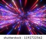 3d render  violet red fireworks ... | Shutterstock . vector #1192722562
