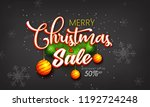 christmas sale text for... | Shutterstock .eps vector #1192724248